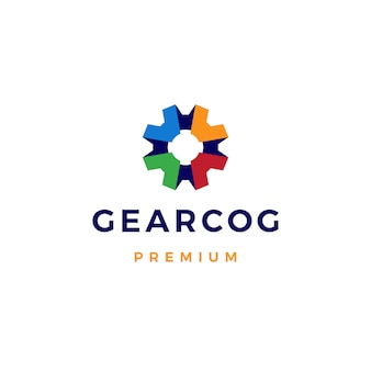Gear cog cogs logo  icon illustration