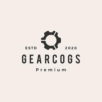 Gear cog cogs винтажный логотип