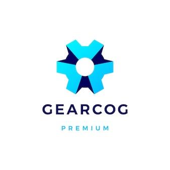 Gear cog logo