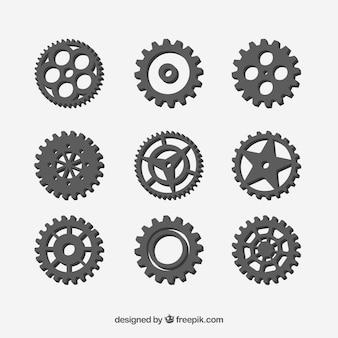 Gear collection machine