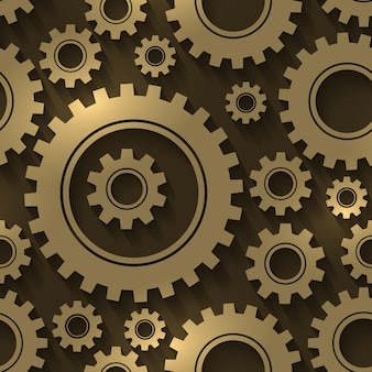 歯車のデザインの抽象的な背景。歯車と歯車のシームレスなパターン。産業技術機械工学