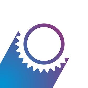 フラットスタイルの歯車アイコンベクトルイラスト歯車技術ロゴ