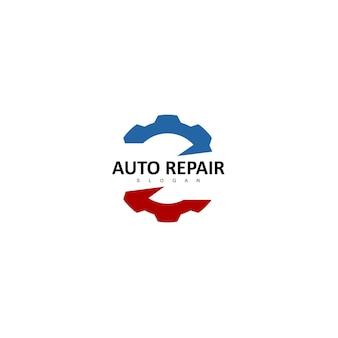 歯車のロゴデザインテンプレート
