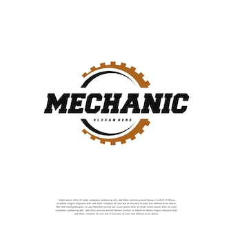 Gear logo разрабатывает вектор шаблона, символ логотипа механика, шаблон символа символа логотипа