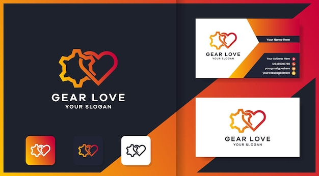 ギア愛のロゴデザインと名刺