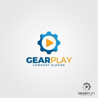 Gear play logo template