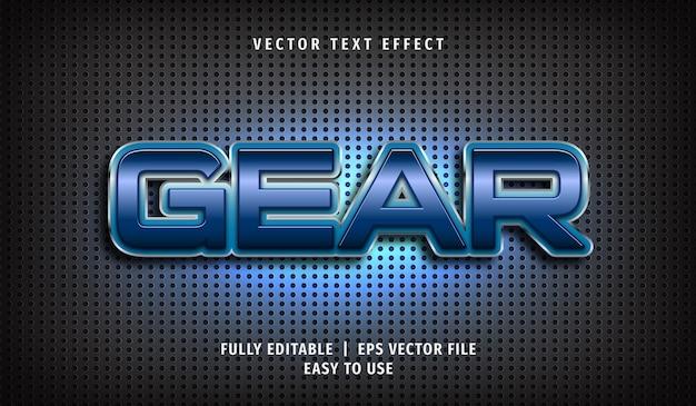 Gear text effect, editable text style