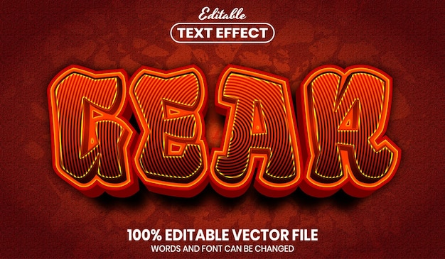 Gear text, font style editable text effect