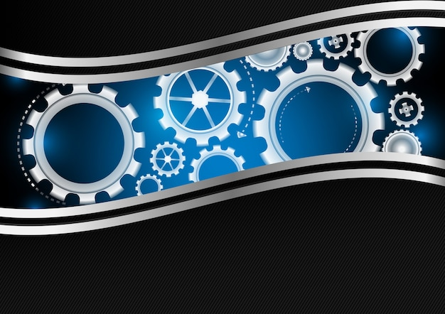 Gear with copy space abstract background