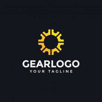 Шаблон логотипа gear