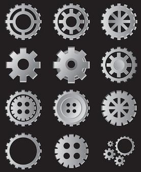 Коллекция gear иллюстрация