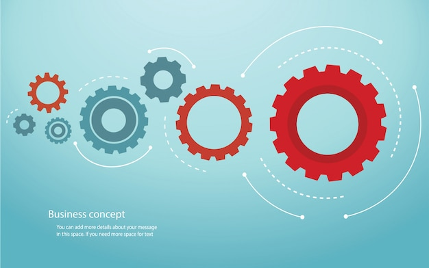 Gears background cog wheel vector illustration