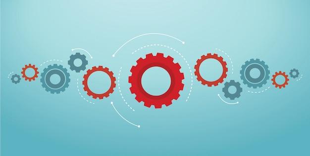Gears background cog wheel vector illustration