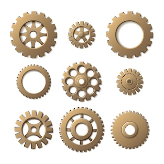 Gears, isolated