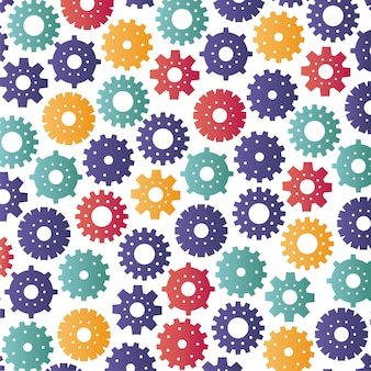 Gears machinery pattern background