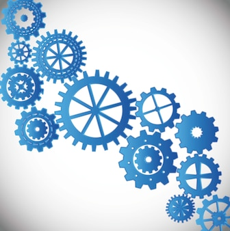 Gears silhouette over gray background vector illustration