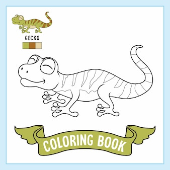 Gecko animals coloring pages book