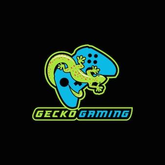 Спортивная векторная иллюстрация gecko gaming e