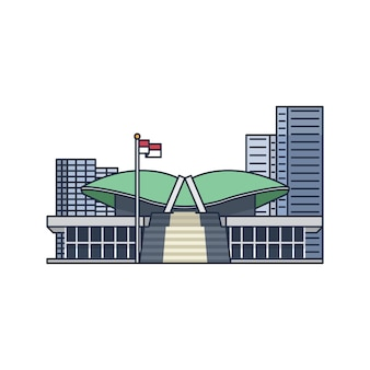 Gedung mpr indonesia vector