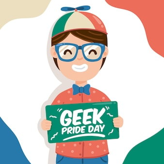 Geek pride day concept