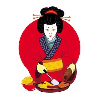 Geisha cooking