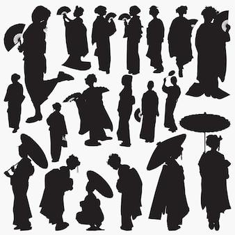 Geisha silhouettes
