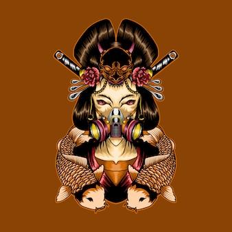Geisha wear mask