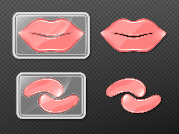 Gel patches for lips and eyes