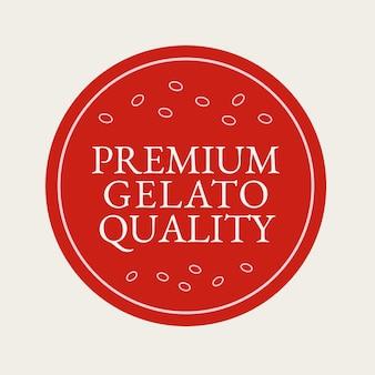 Gelato business logo vector in red color