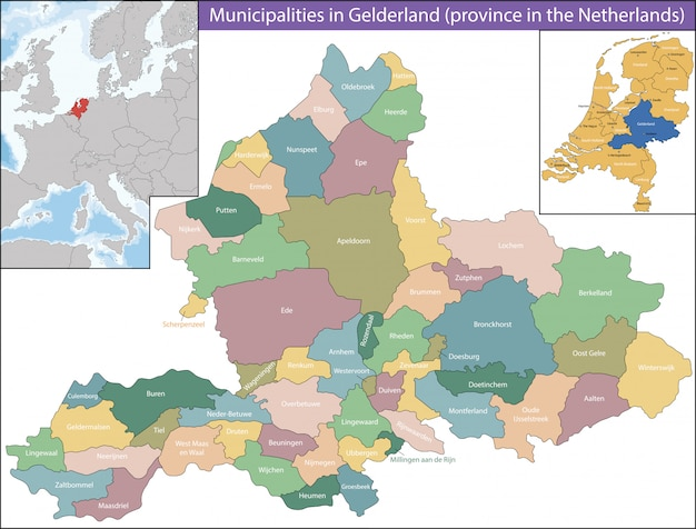 Gelderland is a province of the netherlands