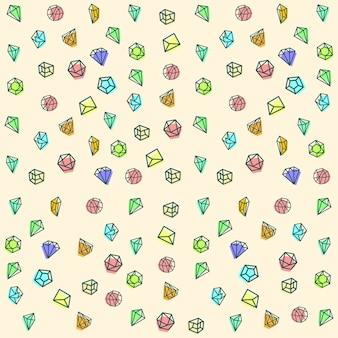 Gem stone seamless background