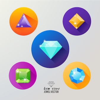 Gem stones icon