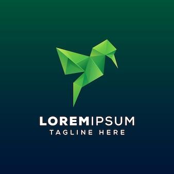 Gems bird logo template