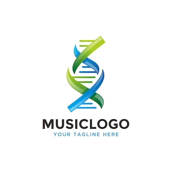 Gen logo. dna logo design.