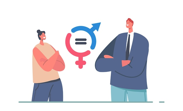 Gender balance and equality concept