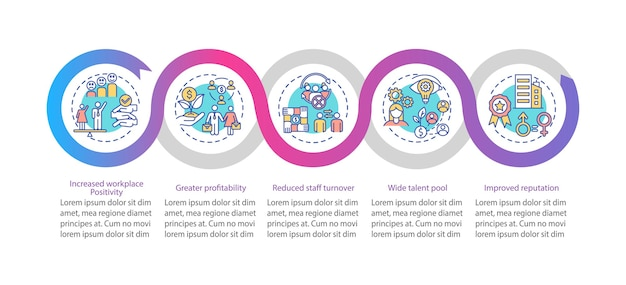 Gender diversity policy benefits infographic template