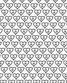 Гендерное равенство черный узор вектор премиум