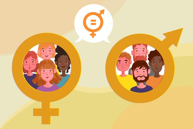 Gender equality concept illustration
