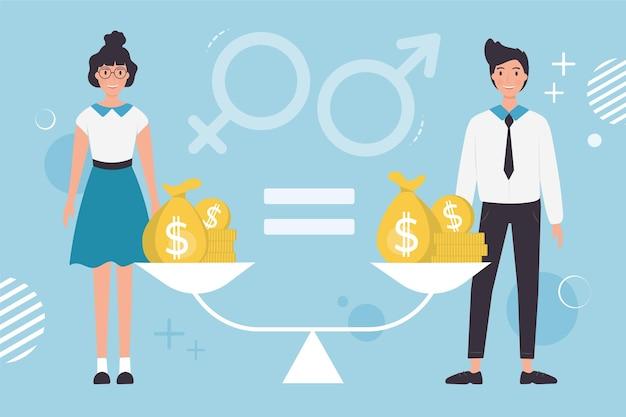 Gender equality concept