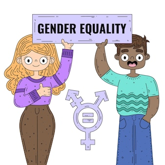 Gender equality illustration theme