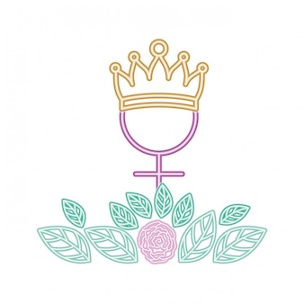 Gender female symbol with crown