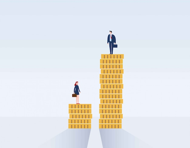 Gender gap and inequality in salary.