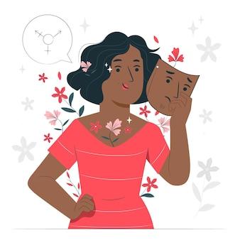 Иллюстрация концепции гендерной идентичности