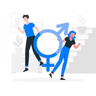 Gender identity concept illustration