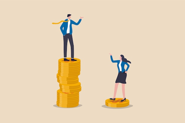 Gender pay gap inequality between man and woman