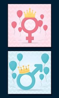 성별 공개 디자인