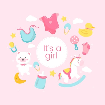 Gender reveal of a girl