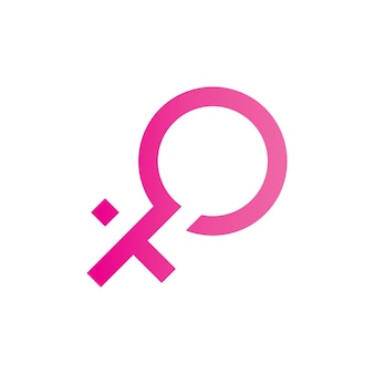Gender symbol logo of sex and equality of males and females vector illustration