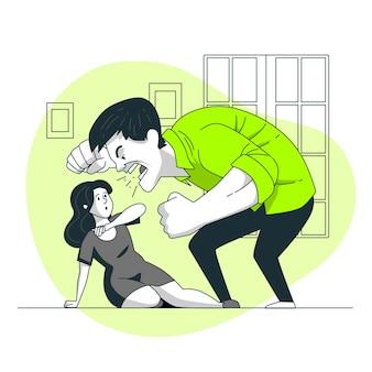 Gender violence concept illustration