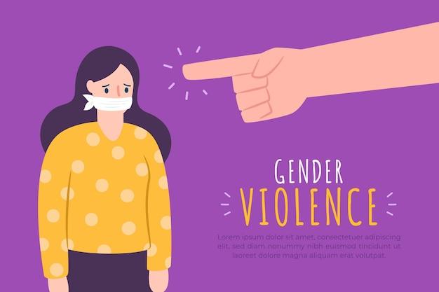 Gender violence concept